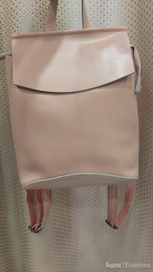 Рюкзак перламутровый кожаный по цене 2000₽ - Рюкзаки, фото 0
