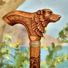 Зонты и трости - Волк резной ручной работы, 0