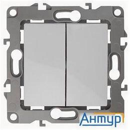 Концевые, позиционные и шарнирные выключатели - Эра Б0014651 12-1004-01 Выключатель двойной, 10АХ-250В, без м.лапок, Эра12, б..., 0