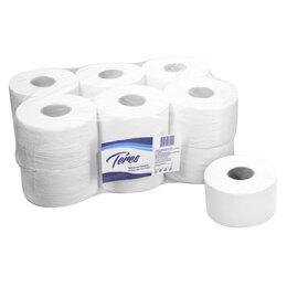 Туалетная бумага и полотенца - Туалетная бумага Терес Эконом mini 1 слой 9,5 см 200 м 12 шт, 0