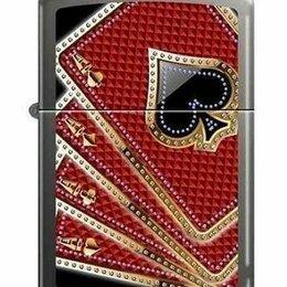 Пепельницы и зажигалки - Зажигалка Zippo 7953 Card Suits Aces, 0