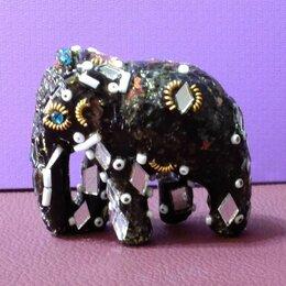 Статуэтки и фигурки - Индийский слон - декорированная фигурка, 0