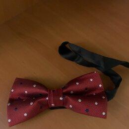 Галстуки и бабочки - Бордовая бабочка галстук с брошью, 0