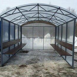 Комплекты садовой мебели - Беседка  из поликарбоната с навесом, 0