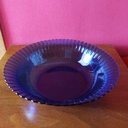 Блюда, салатники и соусники - Салатник / фруктовница , синее стекло, 0