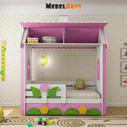 Кроватки - Двухэтажная кровать домик для детей от 3 лет, 0