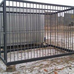 Клетки, вольеры, будки  - Вольер для собаки металлический каркас боковая дверь, 0
