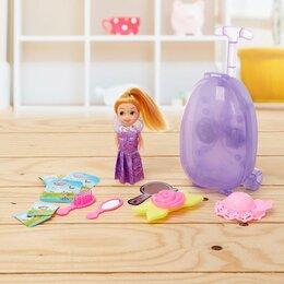 Куклы и пупсы - Кукла «Принцесса» (чемодан, звук, свет, аксессуары), 0