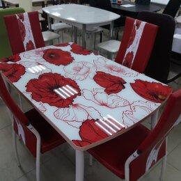Столы и столики - Стол стеклянный с фотопечатью , 0