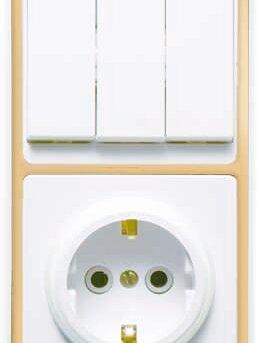 Строительные блоки - Блок БКВР-033 Бэлла (3-кл. выкл. + розетка с…, 0