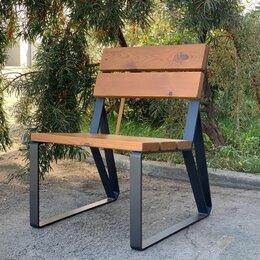 Скамейки - Кресло-скамья садово-парковое с удобной спинкой «Park» 580, термососна, 0