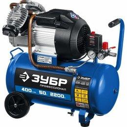 Воздушные компрессоры - Воздушный компрессор Зубр 400 л/мин, 50 л, 2200 Вт, 0