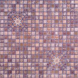 Декоративные фонтаны и панели - Медальон фиолетовый мозаика 957*480мм (30), 0