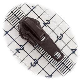 Аксессуары и запчасти - Бегунок №05, для витой молнии, обувной, коричневый, 0