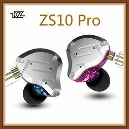 Гарнитуры для проводных телефонов - Гибридные наушники KZ ZS 10 PRO, 0