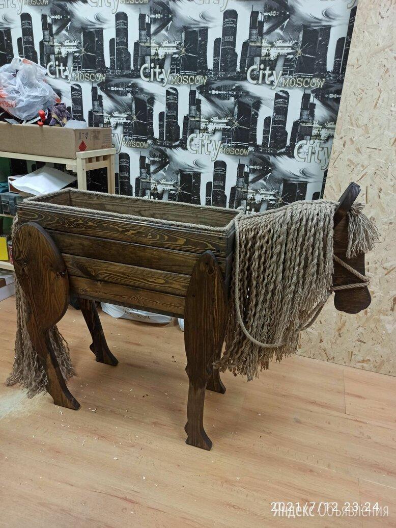 Вазон-цветник лошадь по цене 3500₽ - Горшки, подставки для цветов, фото 0