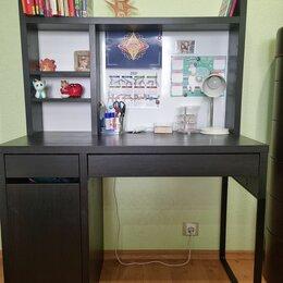 Компьютерные и письменные столы - Микке письменный стол, черно-коричневый, 105x50 см , 0