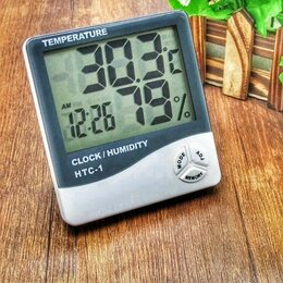 Метеостанции, термометры, барометры - Термометр-гигрометр htc-1 , 0