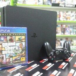 Игровые приставки - Sony PS4 Slim 500gb + GTA V, 0