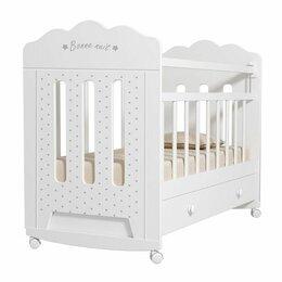 Кроватки - Детская кроватка VDK Bonne колесо-качалка с ящиком, 0