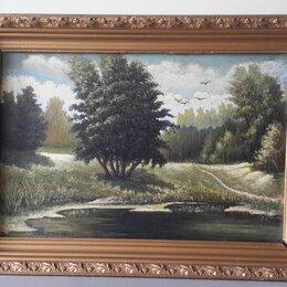 Картины, постеры, гобелены, панно - Картина художник Едрин. Оргалит, масло. размер 64*46, 0