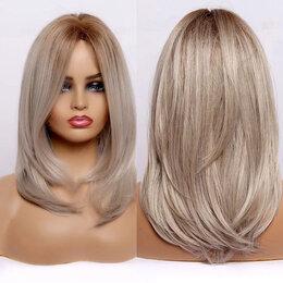 Аксессуары для волос - Парик средней длины блонд Омбре без челки, 0