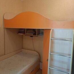 Кроватки - Угловая двухъярусная кровать со шкафом, 0