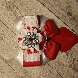 Украшения для девочек - Комплект галстук и бантики канзаши, 0