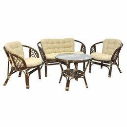 Плетеная мебель - Мебель ротанговая Комплект кофейный Багама 03/10 коньячный, 0