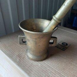 Аксессуары для готовки - Латунная ступка с пестиком антикварная, 0