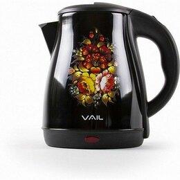 Электрочайники и термопоты - Чайник электрический VAIL VL-5555 черный 1,8 л, 0