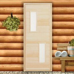 """Двери - Дверь для бани со стеклом ДО-1 сорт """"А"""" 170х70х7 см, 0"""