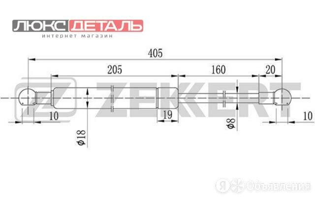 ZEKKERT GF1016 Пружина газовая багажника Audi 100 IV 90-  A6 I 94-  по цене 419₽ - Перевозка багажа, фото 0