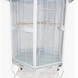 Клетки и домики - N1 Клетка-вольер для птиц, 88*88*186, укомплектованный,  110*110*186., 0