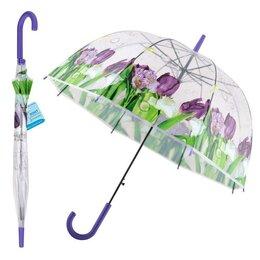 Зонты и трости - Зонт - Фиолетовый букет, 0