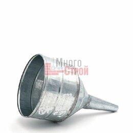 Кровля и водосток - Воронка металлическая прямая D 165, носик d 25мм (большая,высокий борт), 0