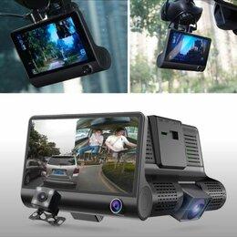 Видеорегистраторы - Видеорегистратор с 3 камерами Video Car DVR Full HD 1080P, 0