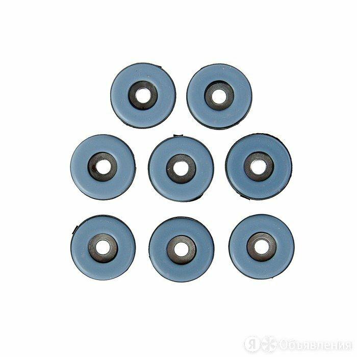Накладка мебельная круглая TUNDRA, D=25 мм, 8 шт., полимерная, цвет серый по цене 309₽ - Постельное белье, фото 0