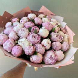 Цветы, букеты, композиции - Букет из 39 розовых пионов , 0