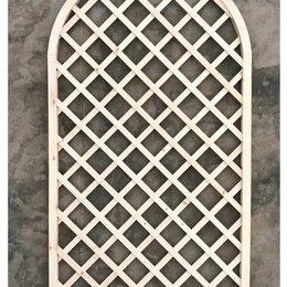 Заборчики, сетки и бордюрные ленты - Решетка садовая накладная с арками 1000*1800мм, ячейка 100мм, 0