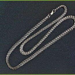 Цепи - ПИТОН цепь - цепочка на шею 59,5*0,6см серебро 925* 32гр. карабин, 0