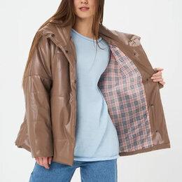 Куртки - Модная куртка из экокожи Ennergiia 42-44;44-46, 0