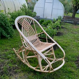 Кресла и стулья - Кресло качалка плетеное ракушка. Ручная работа. , 0