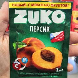 Ингредиенты для приготовления напитков - Растворимый напиток Zuko со вкусом персика (Чили) 25 гр., 0
