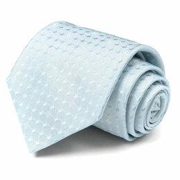 Галстуки и бабочки - Бирюзово-голубой мужской галстук с геометрическим рисунком Celine 63645, 0