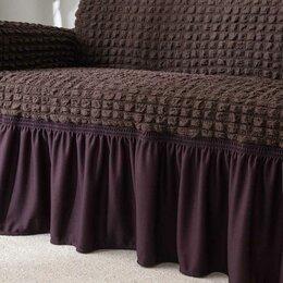 Диваны и кушетки - Чехол на угловой диван универсальный, на резинке, левый угол, 150х190, 0