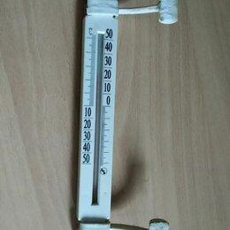Термометры и таймеры - Термометр оконный плоский, 0