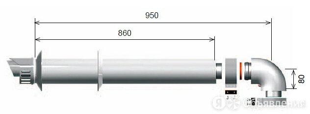 Комплект для прохода через стену или крышу (длина 1000 мм) 3318073 по цене 8435₽ - Оборудование и запчасти для котлов, фото 0