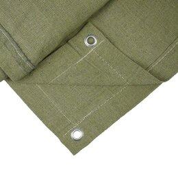 Тенты строительные - Полог брезентовый, 3 × 4 м, плотность 400 г/м², люверсы шаг 1 м, огнеупорный, 0