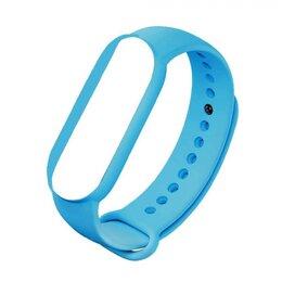Ремешки для часов - Ремешок силиконовый для Mi Band 5 - светло - голубой, 0
